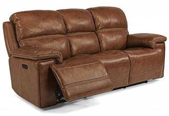 Fenwick Power Reclining Leather Sofa 1659-62PH by Flexsteel