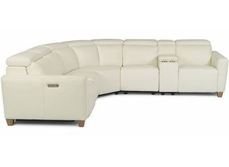 Astra Power Reclining Leather Sectional with Power Headrest 1309-SECT from Flexsteel furniture