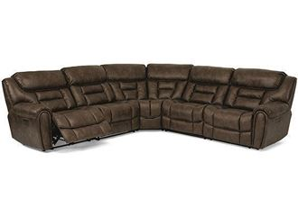 Buster Reclining Sectional with Console 1880-SECTPH from Flexsteel furniture
