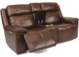 Chance Reclining Loveseat with Console (1187-64PH) by Flexsteel furniture