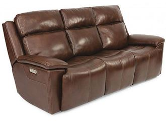 Chance Reclining  LeatherSofa with Power Headrest (1187-62PH) by Flexsteel furniture