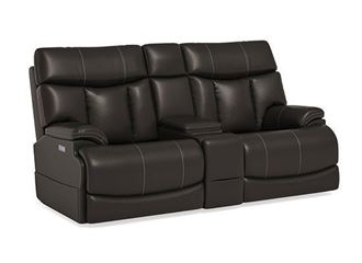Clive Power Reclining Loveseat with Console 1594-64PH from Flexsteel furniture