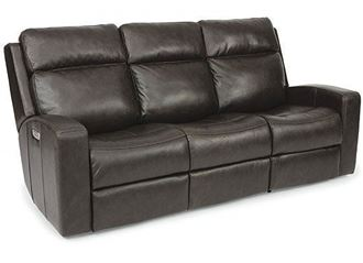 Cody Reclining Leather Sofa with Power Headrest (1820-62PH) by Flexsteel furniture