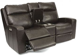 Cody Reclining Leather Loveseat with Console (1820-64PH) by Flexsteel furniture