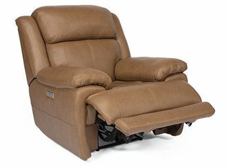 Elijah Power Leather Recliner with Power Headrest and Lumbar 1465-50PH from Flexsteel furniture
