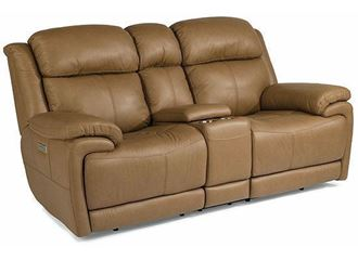Elijah Power Reclining Loveseat with Console 1465-64PH from Flexsteel furniture
