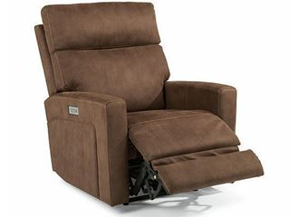 Picture of Equestrian Power Leather Hi-Leg Recliner (301R-503M)