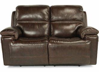 Fenwick Power Reclining Loveseat with Power Headrest 1659-60P from Flexsteel furniture