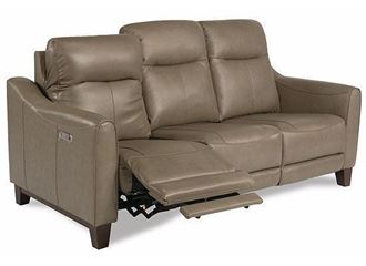 Forte Power Reclining leather Sofa with Power Headrests 1197-62PH from Flexsteel furniture