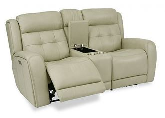 Grant Reclining Loveseat with Console (1480-64PH) by Flexsteel furniture