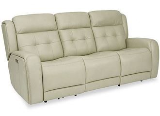 Grant Reclining Leather Sofa with Power Headrest (1480-62PH) by Flexsteel furniture