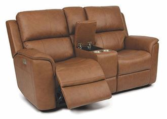 Henry Power Reclining Loveseat with Console and Power Headrests 1041-64PH from Flexsteel