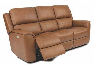 Henry Power Reclining Sofa with Power Headrests and Lumbar 1041-62PH from Flexsteel