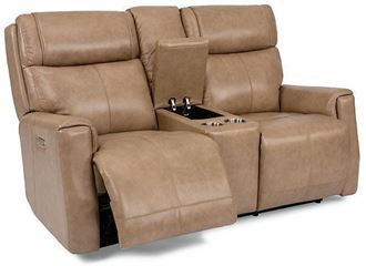 Picture of Holton Power Reclining Loveseat with Console and Power Headrests 1836-64PH