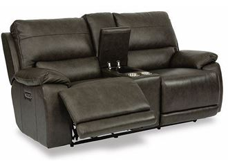 Picture of Horizon Power Reclining Loveseat with Console and Power Headrests 1933-64PH