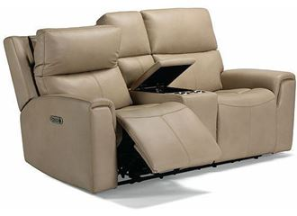 Picture of Jarvis Power Reclining Loveseat with Console and Power Headrests 1828-64PH