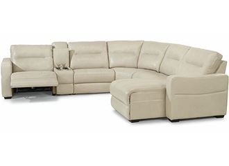 Picture of Monet Power Reclining Leather Sectional (1891-SECTPH)