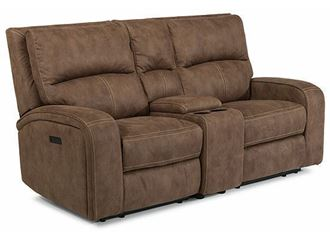 Picture of Nirvana Power Reclining Loveseat with Console and Power Headrests 1650-64PH