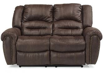 Picture of Town Leather Reclining Loveseat with Power Headrest (1010-60PH)