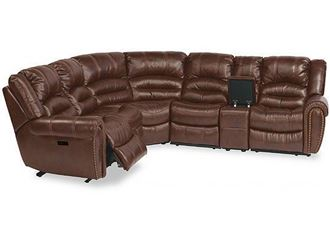 Picture of Town Leather Reclining Sectional with Power Headrest (1010-SECTPH)