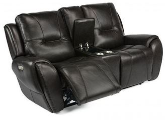 Trip Reclining Loveseat with Console (1134-64PH) by Flexsteel furniture