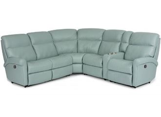 Davis Leather Reclining Sectional (3902-SECT) by Flexsteel furniture
