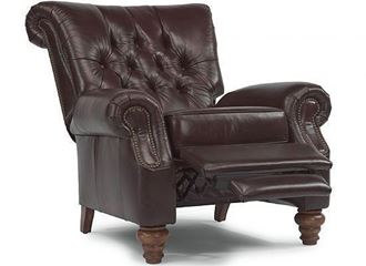 Picture of Equestrian Leather Hi-Leg Recliner (301R-503)