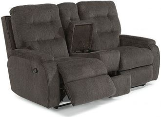 Picture of Kerrie Reclining Loveseat with Console (2806-601)