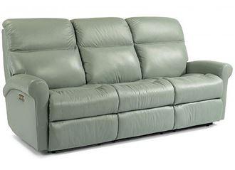 Davis Leather Reclining Sofa (3902-62) by Flexsteel furniture